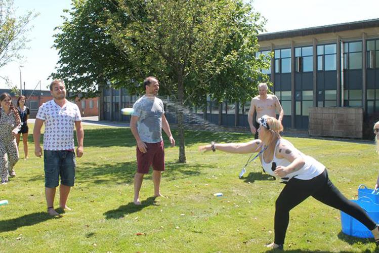 Charity fun day waterfight