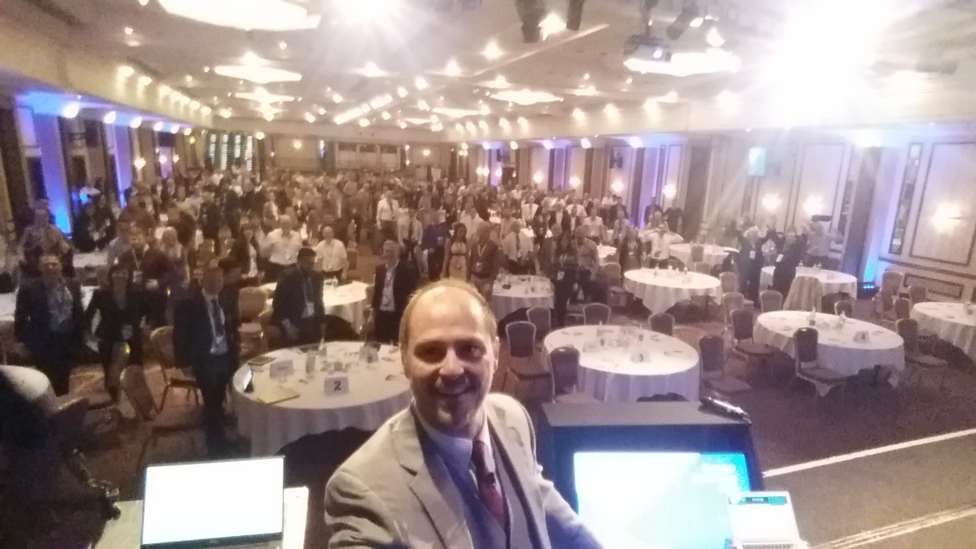 Jeremy opens the conference with a selfie high-res