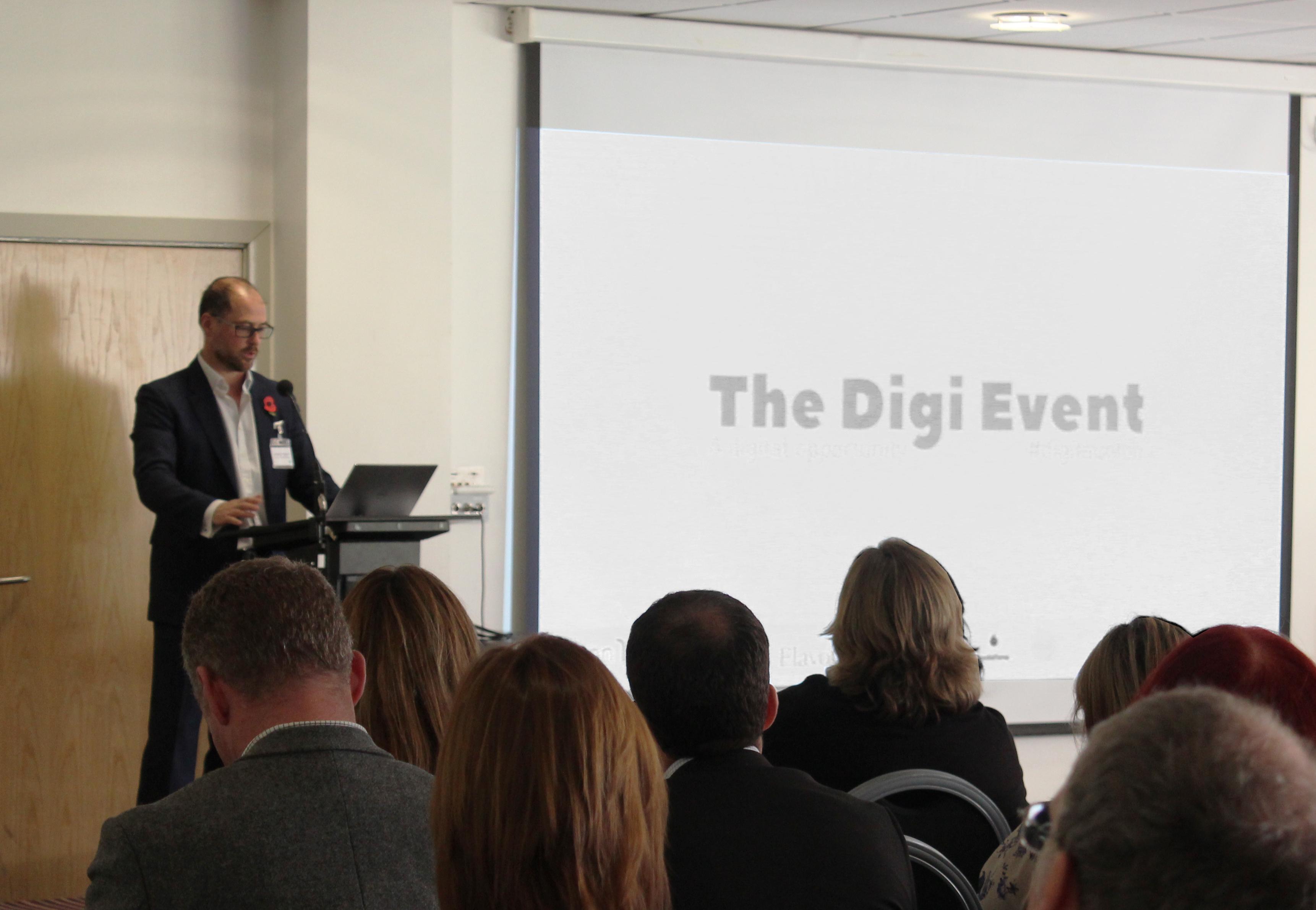 Jeremy Hyams chairing The Digi Event
