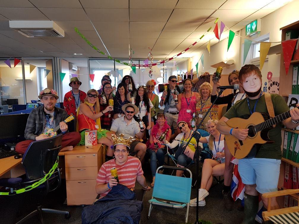 Glastonbury team fundraising charity day