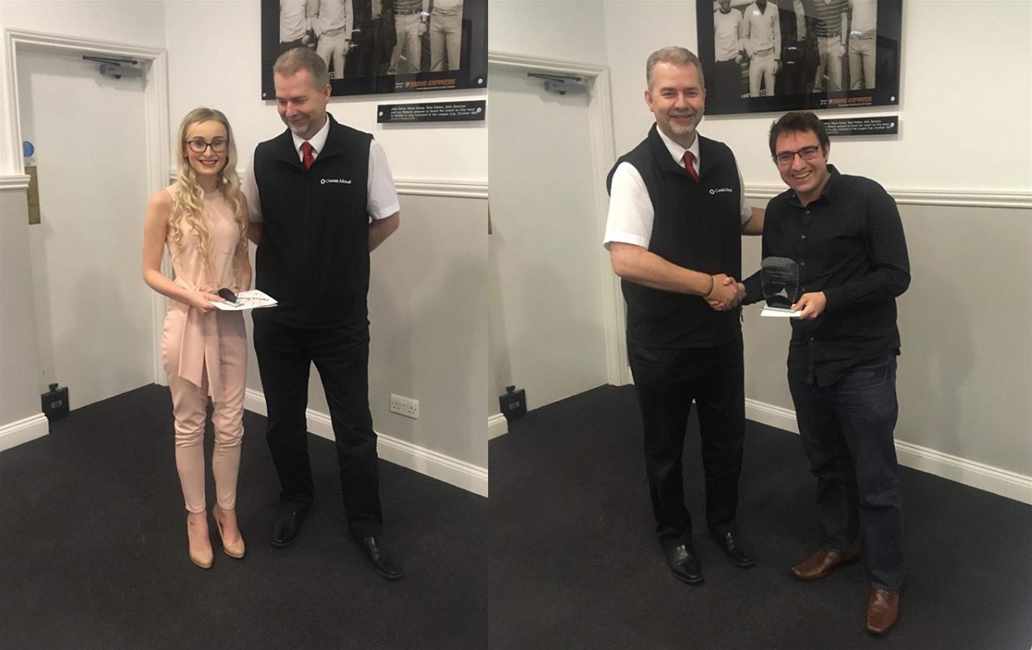 Loretta and Joe receive CII awards